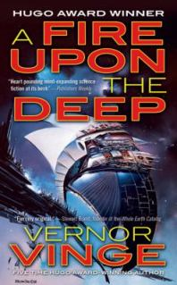 "Hugo award-winning, sometimes described as ""space opera"""